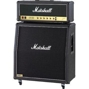 Marshall製JCM-800。ほとんどのスタジオで目にすることができます。